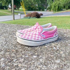 Kids Checkered Vans Slip Ons